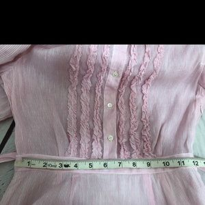 J. Crew Dresses - J.Crew Linen Pink Pinstripe Spring Summer Dress
